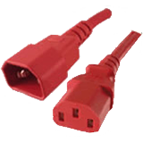 IEC 320 C14-C13 2 Ft 10 Amp PDU Power Cord - Red