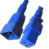 8 Feet C20 TO C19 PDU to Server 20 Amp Power Cord- Blue